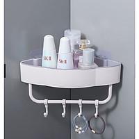 Kệ góc nhà tắm hình đám mây kèm móc treo tiện dụng ( giao mầu ngẫu nhiên) Tặng kèm 2 móc treo 3D