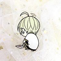 ( Mica trong acrylic) Móc khóa 19 Days ver ngồi in hình anime chibi