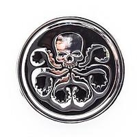 Đầu lâu Hydra tròn - Sticker hình dán metal kim loại 3D