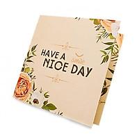 combo 10 Thiệp mừng vuông gấp Have a Nice day