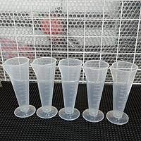 Combo 5 ly đong nhựa định lượng 100ml