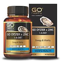 Tinh chất hàu Go Healthy GO OYSTER + ZINC 1 - A - DAY tăng cường sinh lý cải thiện tình trạng xuất tinh sớm hộp 60 viên
