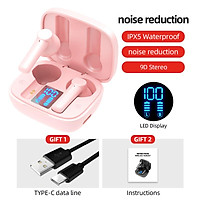 Lb-8 Bluetooth Earphones True Wireless Headphones 5.0 Tws In-ear Earbuds Ipx5 Waterproof Earphones