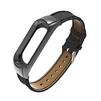 Leather Replacement Strap Wristband Watchband Accessories for Xiaomi Mi Band 3 Smart Watch Bracelet
