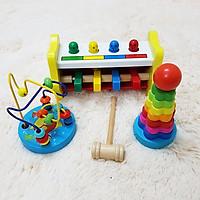 Combo 201 bộ đồ chơi cho trẻ trên 2 - 5  tuổi đồ chơi gỗ