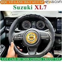 Bọc Vô Lăng Da dành cho Xe Suzuki XL7 Lót Cao Su Non Cao Cấp Chống Trượt Tay