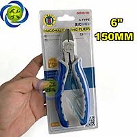 Kìm cắt cán xanh trắng C-Mart B0016-6 150mm 6inch