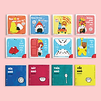 Combo 12 cuốn sách Ehon Chơi cùng Giri - Chú bé cơm nắm và Đồ vật quanh bé