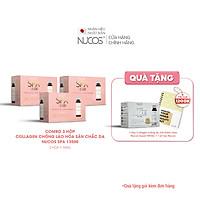Combo 3 Hộp Collagen nước xóa nhăn ngăn lão hóa da Nucos Spa 13500 3 Hộp x 10 Chai x 50ml