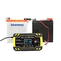 Máy sạc bình ắc quy 12V 24V 8A sạc cho bình 4Ah-150Ah có chức năng khử sunfat phục hồi ắc quy thông minh tự ngắt khi đầy cảm biến vân tay sạc bình ắc quy ô tô