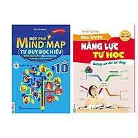 Combo 2 Để học tốt ngữ văn lớp 10: Đột Phá Mindmap - Tư Duy Đọc Hiểu Môn Ngữ Văn Bằng Hình Ảnh Lớp 10 + Rèn luyện năng lực tự học (tặng sổ tay vẽ sơ đồ tư duy)