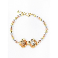 Lắc Tay Vàng Bi Hoa Hồng Senyda Jewelry LTV040