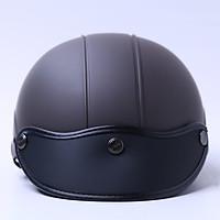 Mũ Bảo Hiểm 1/2 Chita (Size L) - Socola Sơn Mờ