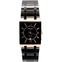 Đồng hồ Nam Halei - HL564 Dây đen Mặt đen (Tặng pin Nhật sẵn trong đồng hồ + Móc Khóa gỗ Đồng hồ 888 y hình + Hộp Chính Hãng+ Thẻ Bảo Hành)