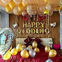 Combo Bóng bay trang trí đám cưới, phòng tân hôn đẹp và ý nghĩa (bóng chưa bơm)