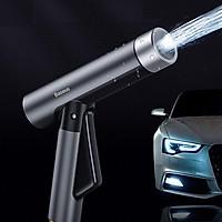 Bộ dây và vòi tăng áp lực nước dùng rửa xe, tưới cây Baseus Simple Life Car Wash Spray Nozzle - Hàng Chính Hãng