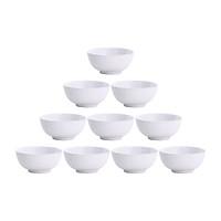 Bộ 10 Chén (Bát) cơm trắng An Toàn Sức Khỏe Nhựa Xanh Family CC01