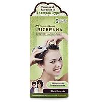 Thuốc Nhuộm Tóc Phủ Bạc Dạng Gội Richenna - Richenna EZ Speedy Hair Color (số 6)
