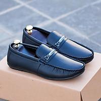 Giày lười da mềm nam 2 màu nâu và đen