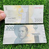 Tiền Indonesia 2000 Rupiah hình vũ công múa, chất lượng mới 100% UNC, The Merrick Mint
