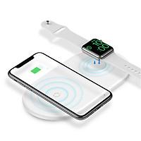 Đế sạc nhanh không dây 2 trong 1 cho điện thoại và Apple Watch 1 / 2 / 3 / 4 / 5 hiệu Baseus Dual Smart Wireless Charging (hỗ trợ công suất lên tới 10W, Wireless Quick charge) - Hàng nhập khẩu