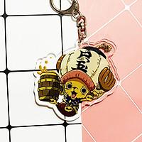 ( Mica trong acrylic ) Móc khóa One Piece Đảo hải tặc Chopper chibi anime tặng ảnh VCone