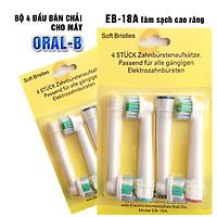 Cho máy Oral–B, Bộ 4 Đầu Bàn Chải đánh răng điện