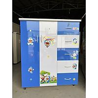 Tủ Nhựa Đài Loan 2 Cánh 5 Hộc 125x106x45CM  Đựng Quần Áo, Đồ Dùng cho Gia Đình Cao cấp - Sang Trọng