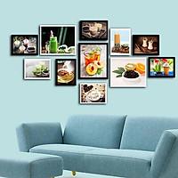 Bộ khung ảnh treo tường composite thức uống kèm đinh 3 chân  KA210