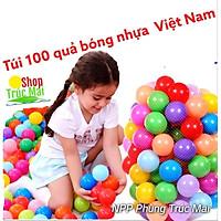 Túi 100 bóng nhựa cho bé vui chơi lều bóng Doremon nhà bóng Helokity chơi bể bơi hồ bơi