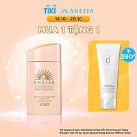Sữa chống nắng dịu nhẹ cho da nhạy cảm và trẻ em Anessa SPF 50+ PA++++ 60ml tặng Sữa rửa mặt tạo bọt dưỡng da d program 120g