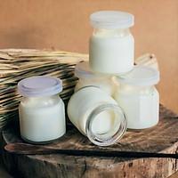 Bộ 12 Hũ Làm Sửa Chua Pudding Bánh Flan 100ML Có Nắp Hàng VNCLC