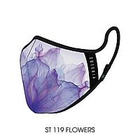 Khẩu trang thời trang cao cấp Soteria Flowers ST117 - Khẩu trang vải than hoạt tính [size S,M,L]