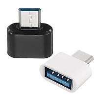 Bộ Đôi  Đầu chuyển Micro USB OTG -Type -C cho máy tính bảng và smart phone (đen) - Hàng nhập khẩu