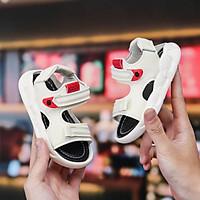Giày Sandal Bé Trai Từ 2 Đến 5 Tuổi Đi Học, Đi Chơi, Chất Da PU Siêu Êm Mềm, Siêu Nhẹ, Quai Ngang Đơn Giản ( Trắng, Đen)