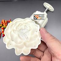 Khuôn Trung Thu 3D SIÊU SẮC NÉT - Hình HOA HỒNG 150g - MẪU MỚI. Dụng cụ làm bánh TRUNG THU Khuôn nhấn có lò xo TIỆN LỢI. Dụng cụ làm bánh NƯỚNG, chuyên tạo định hình bánh CHUYÊN NGHIỆP