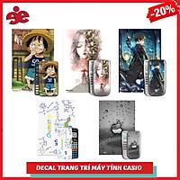COMBO 5 DECAL TRANG TRÍ MÁY TÍNH CASIO / VINACAL ( ĐƯỢC CHỌN MẪU)