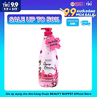 Kem tắm dưỡng ẩm làm sáng và mịn da  Beauty Buffet Scentio Cherry Blossom 700ml