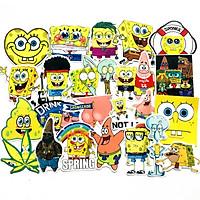 Set 30 Sticker SpongeBob SquarePants Chú bọt biển tinh nghịch