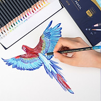 Bút chì màu nước cao cấp Deli 24 - 36 màu/ hộp kèm bút lông - 6518/6519