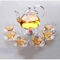 Bộ ấm trà thuỷ tinh 14pcs 554