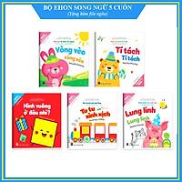 Ehon song ngữ Anh - Việt (Bộ 5 cuốn) -  Bộ sách nuôi dưỡng tâm hồn bé 0 - 6 tuổi - Kèm file nghe