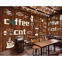Tranh dán tường trang trí quán cà phê TC37(100x150)