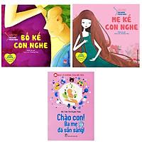 Combo 3 cuốn sách  Cẩm Nang Dành Cho Mẹ Bầu Và Thai Nhi : Bố Kể Con Nghe + Mẹ Kể Con Nghe + Bác Sĩ Riêng Của Bé Yêu - Chào Con! Ba Mẹ Đã Sẵn Sàng ( Tặng kèm Bookmark Happy Life)