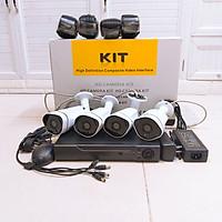 Trọn Bộ 4 Camera Giám Sát 4k 5MP Chóng Nước IP66 Dây 20 Mét-App điều khiển từ xa - Kèm HDD500Gb