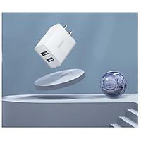 Củ sạc Baseus 2 cổng USB suất 10,5W sạc nhanh 2.1A cho iPhone iPad Máy tính bảng điện thoại thông minh - Hàng chính hãng