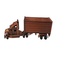 Mô hình xe gỗ xe tải Container