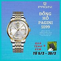 Đồng Hồ Nam Cao Cấp Chính Hãng Pagini Pa5599 Thép Không Gỉ - Chống Nước 3ATM - Hiển Thị 2 Lịch Đẳng Cấp - Tinh tế