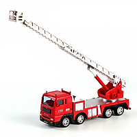 Đồ chơi mô hình xe cứu hóa thang trượt KAVY chất liệu hợp kim và nhựa nguyên sinh an toàn, chạy đà chi tiết sắc sảo
