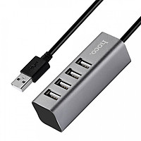 Củ Sạc Điện Thoại Hoco HB1 4 Cổng USB + Tặng Kèm 1 Cáp Sạc IPhone - Hàng Chính Hãng